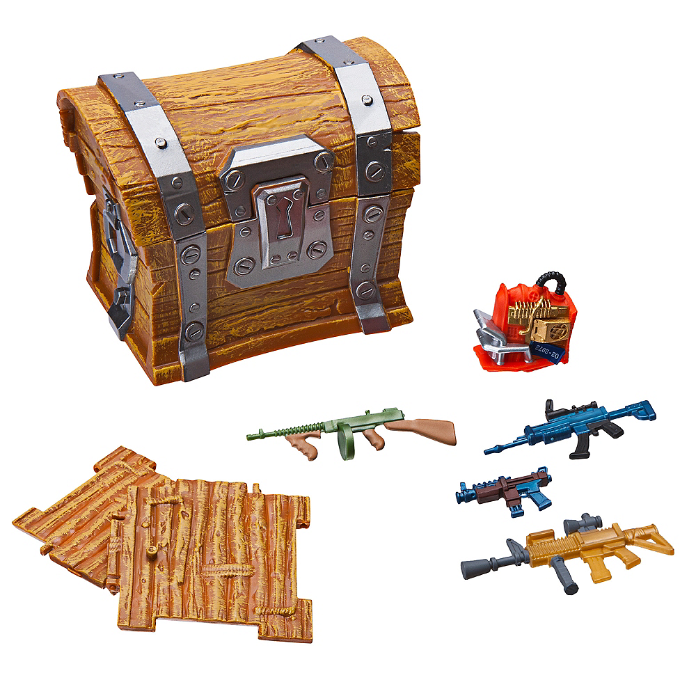 Loot Box Collectible Chest Playset 7pc - Fortnite Image #1