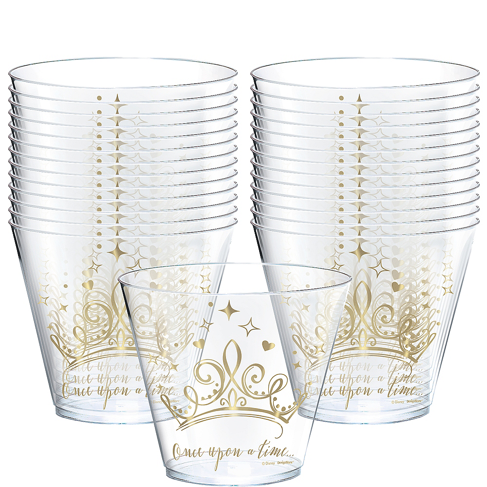 Metallic Disney Once Upon A Time Plastic Cups 8ct Party City