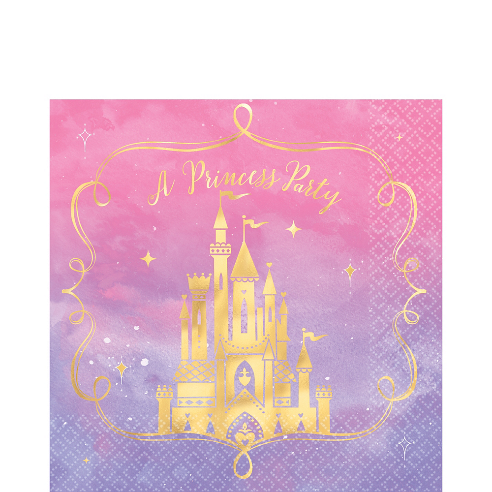 Metallic Disney Once Upon a Time Lunch Napkins 16ct Image #1