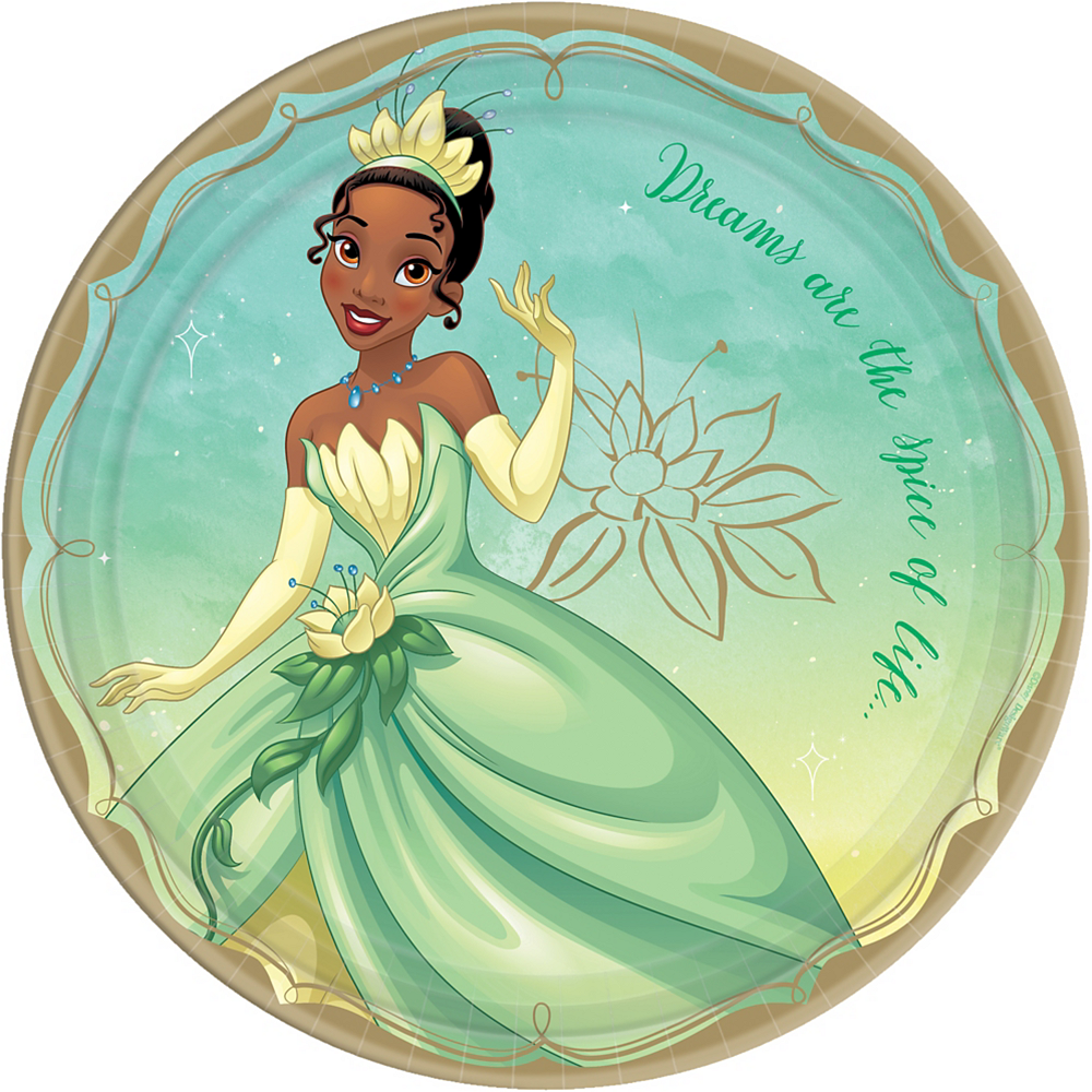 Princess Tiana Lunch Plates 8ct Party City