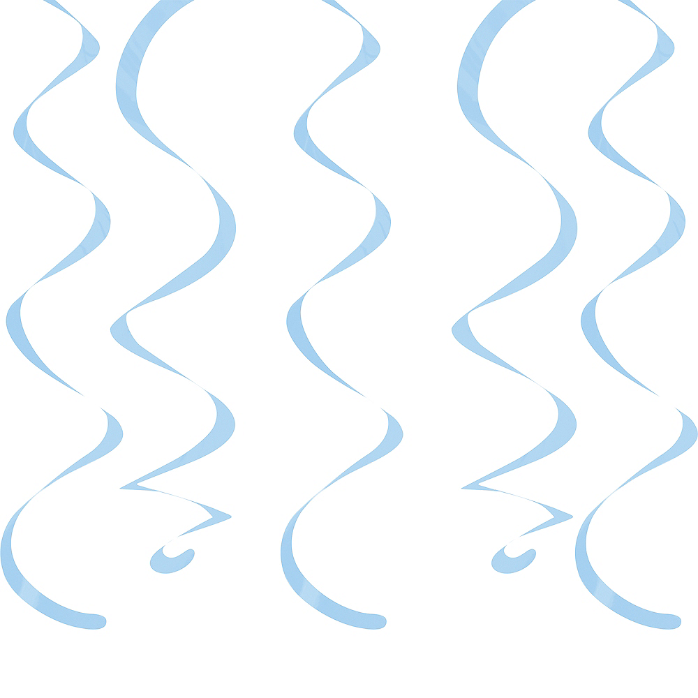 Pastel Blue Swirl Decorations 10ct Image #1
