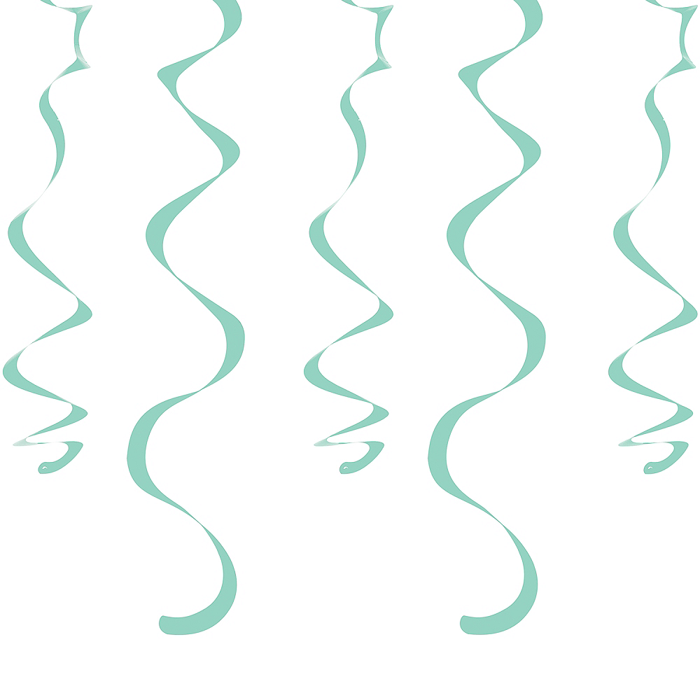 Mint Green Swirl Decorations 10ct Image #1