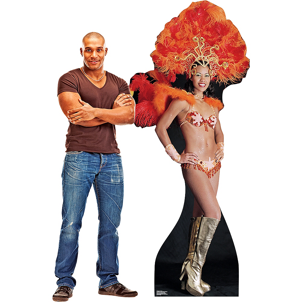 Nav Item for Vegas Showgirl Life-Size Cardboard Cutout Image #2
