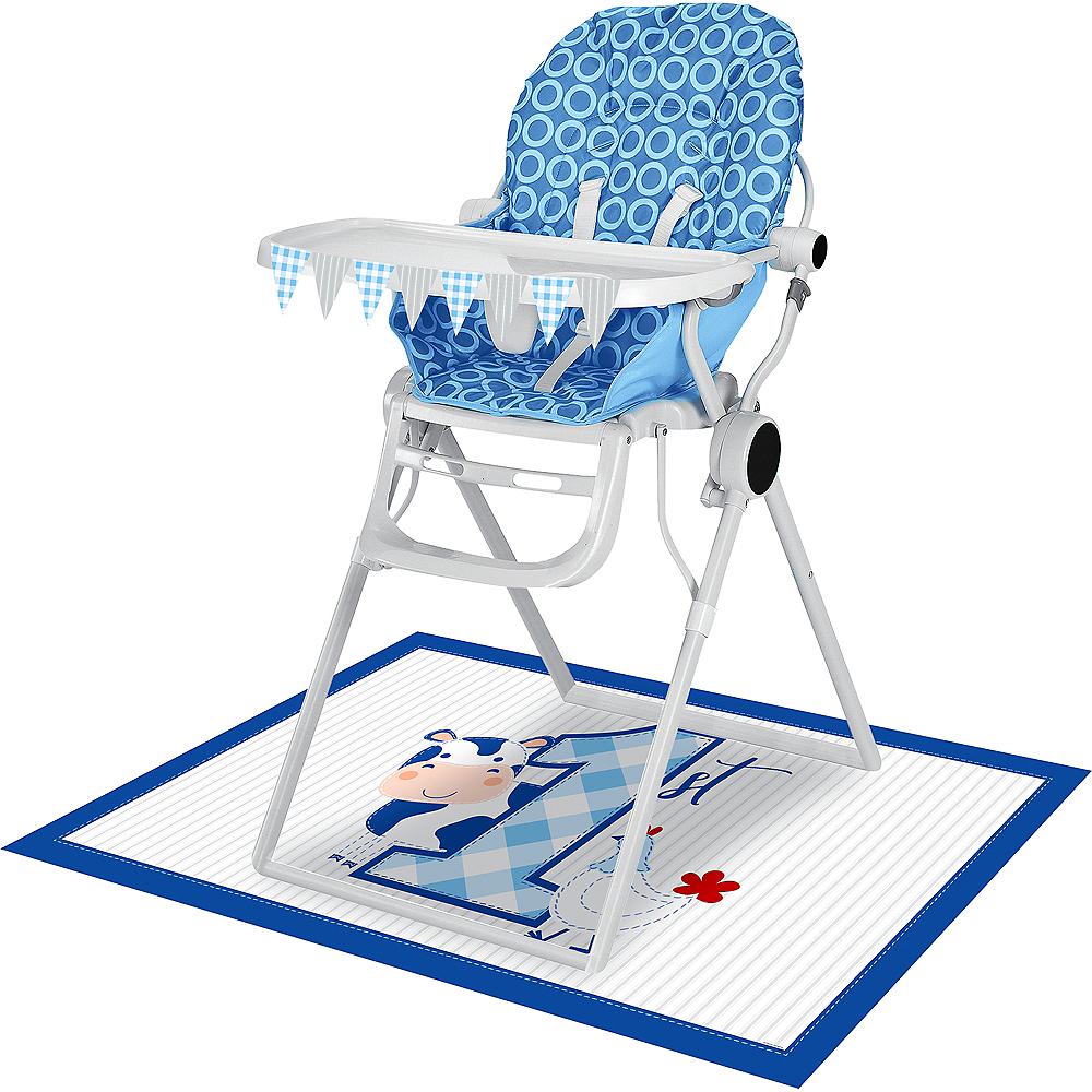 Blue Farmhouse 1st Birthday High Chair Kit 2pc Image #1