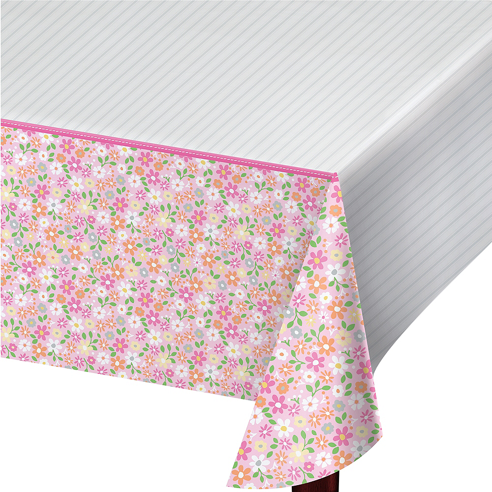 Pink Farmhouse Table Cover Image #1