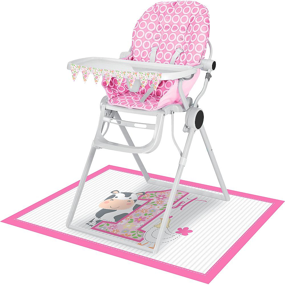 Pink Farmhouse 1st Birthday High Chair Kit 2pc Image #1