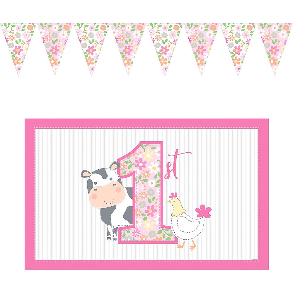 Pink Farmhouse 1st Birthday High Chair Kit 2pc Image #2