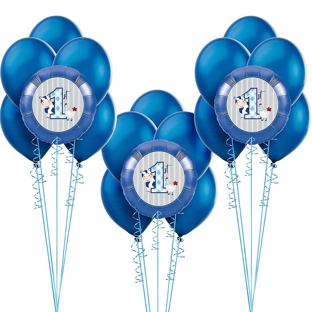 Blue Farmhouse 1st Birthday Balloon Kit Image #1
