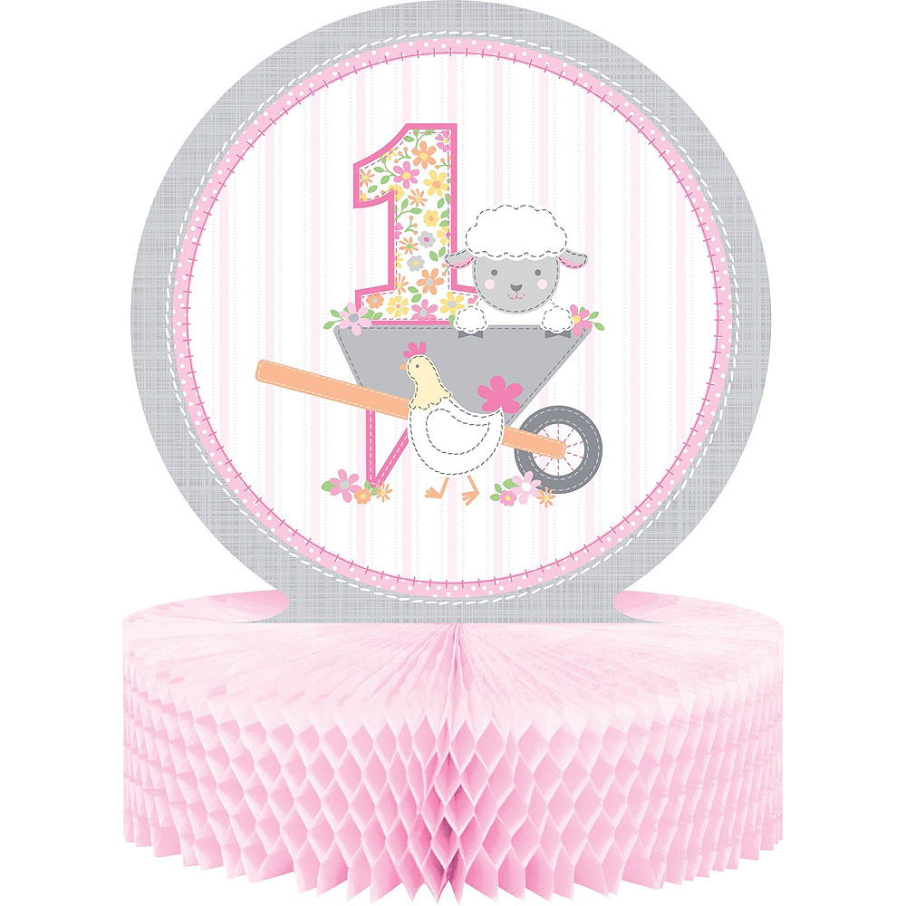 Pink Farmhouse 1st Birthday Tableware Kit for 16 Guests Image #9