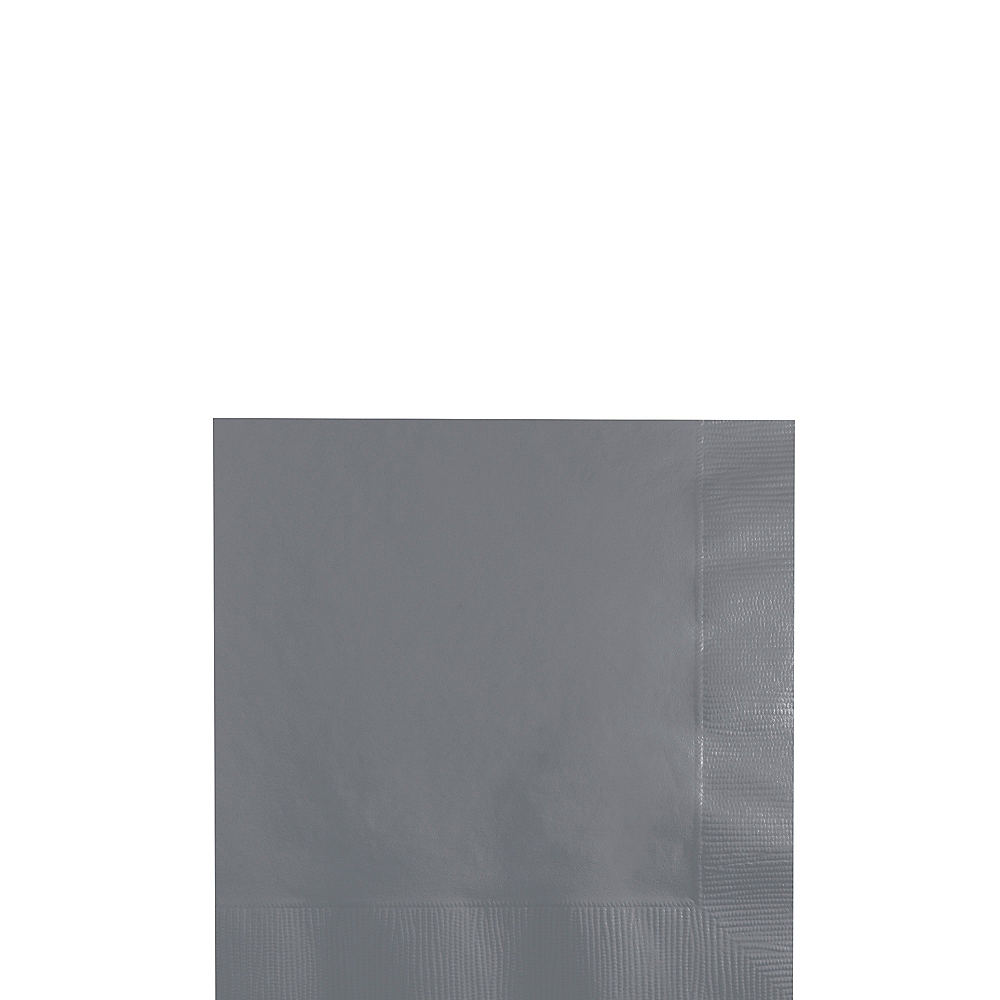 Gray Beverage Napkins 50ct Image #1