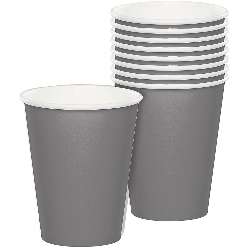 Gray Paper Cups 24ct Image #1