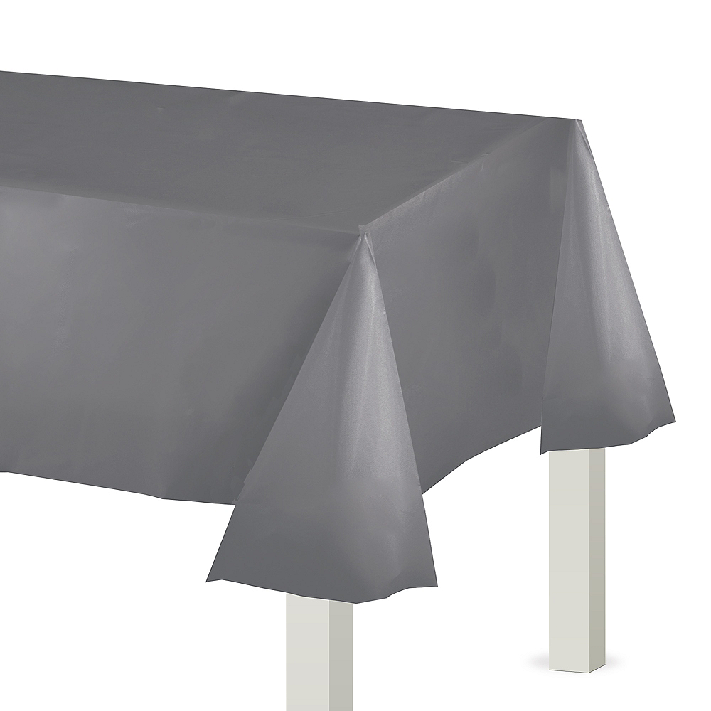 Gray Plastic Table Cover Image #1