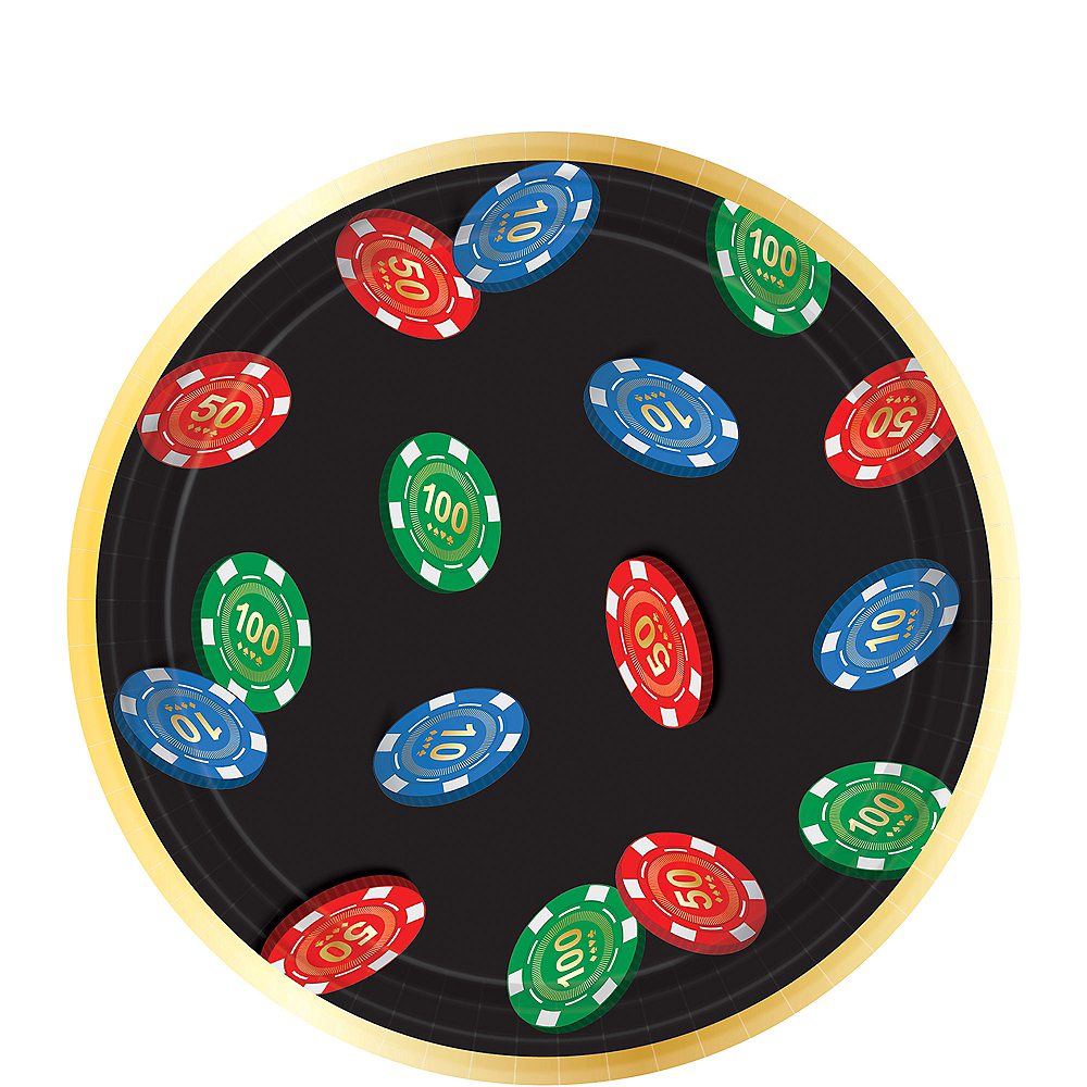 Roll the Dice Casino Dessert Plates 8ct Image #1