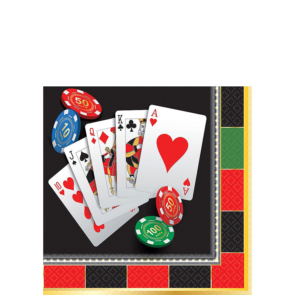 Roll the Dice Casino Beverage Napkins 16ct Image #1