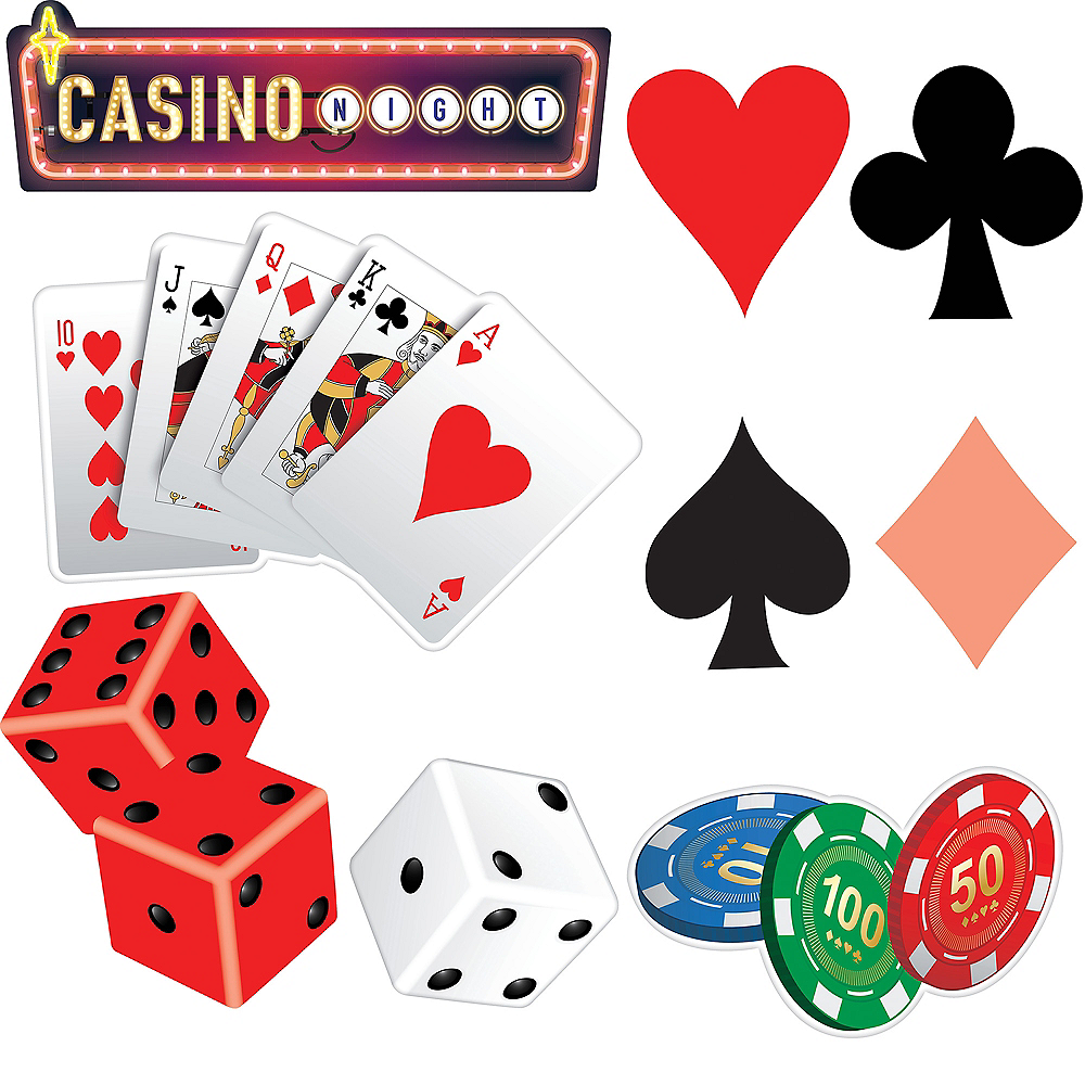 Roll the Dice Casino Cutouts 30ct Image #1