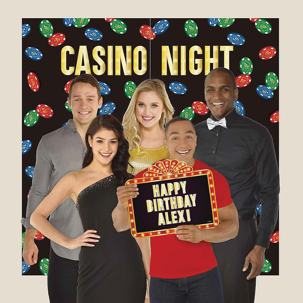 Roll the Dice Casino Photo Booth Backdrop Kit Image #1