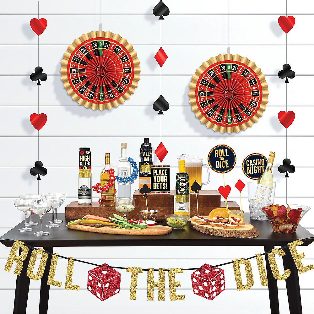 Nav Item for Roll the Dice Casino Bar Decorating Kit 29pc Image #1
