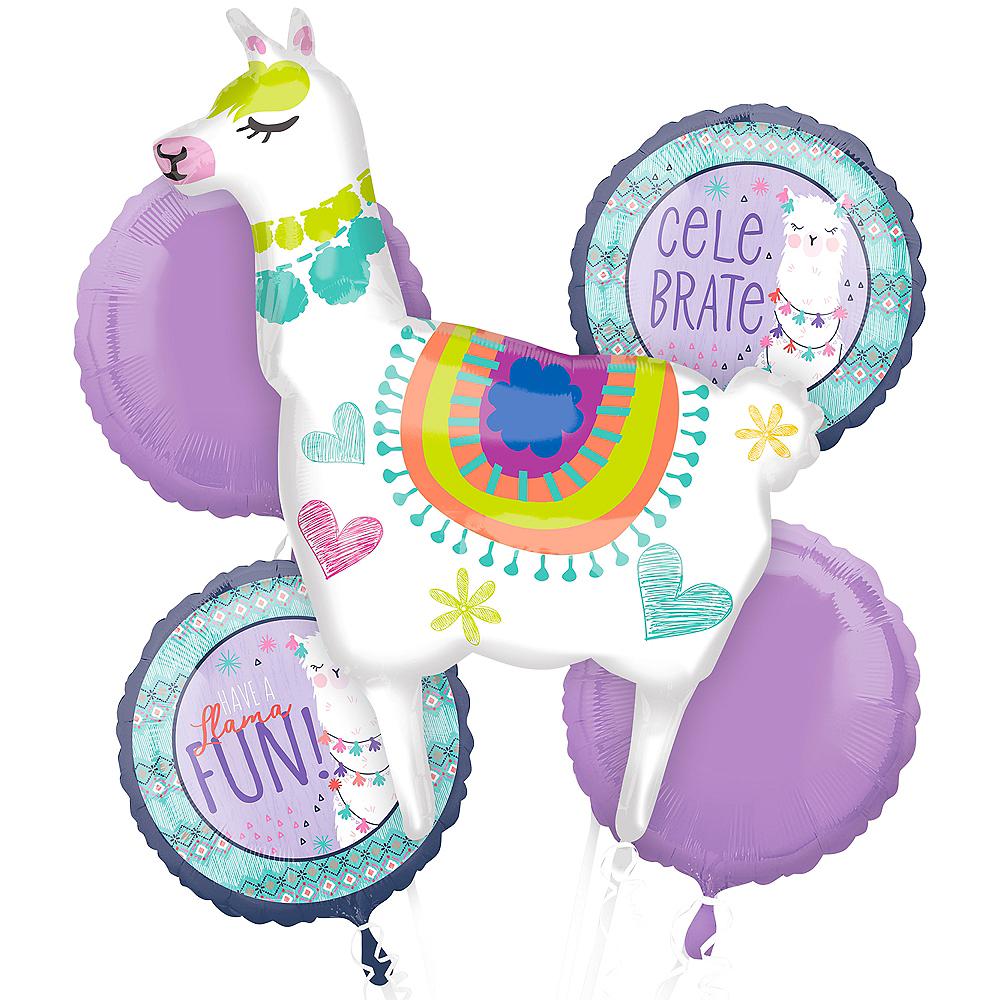 Llama Fun Balloon Bouquet 5pc Image #1