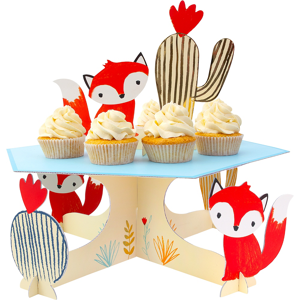 Baby Fox Cake Stand 14 3 4in X 5 1 4in Party City