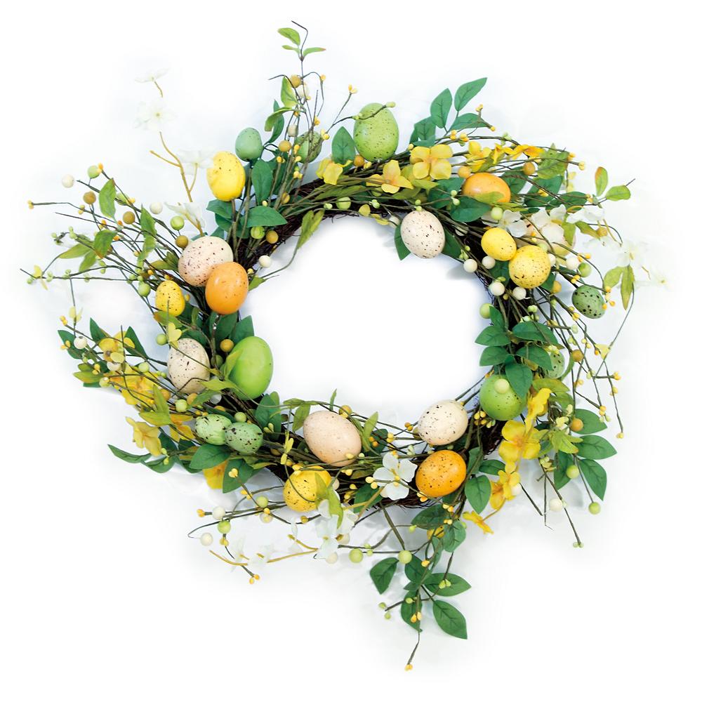 Easter Eggs & Spring Flowers Wreath Image #1