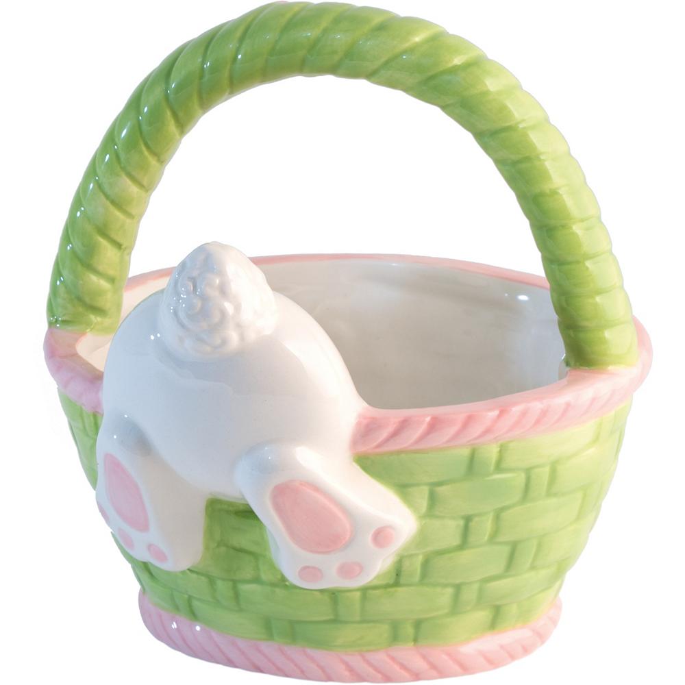 Hoppy Easter Bunny Ceramic Basket Image #1