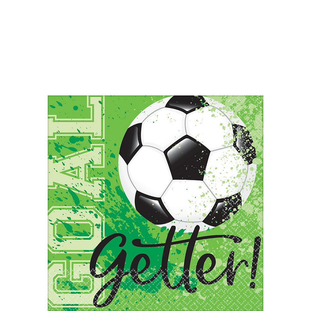 Nav Item for Goal Getter Soccer Beverage Napkins 36ct Image #1