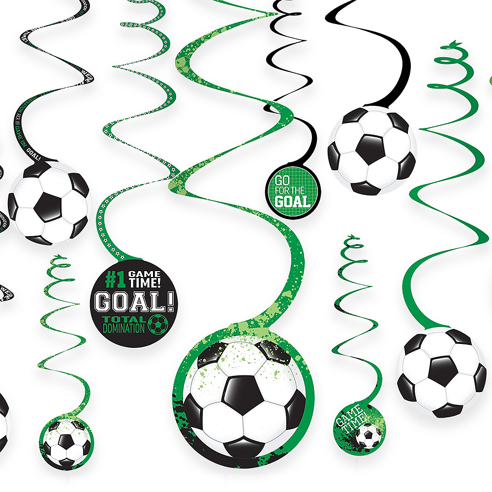 Goal Getter Soccer Swirl Decorations 12ct Image #1