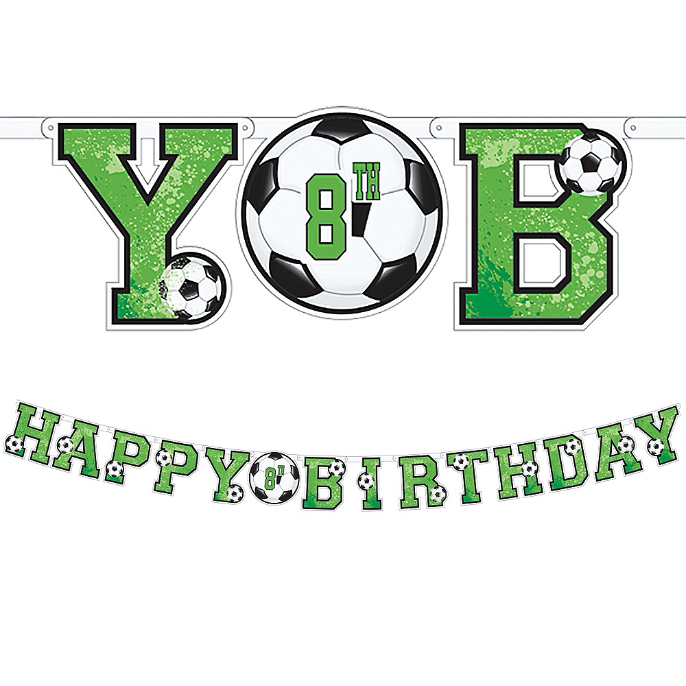 Goal Getter Soccer Birthday Banner Kit Image #1
