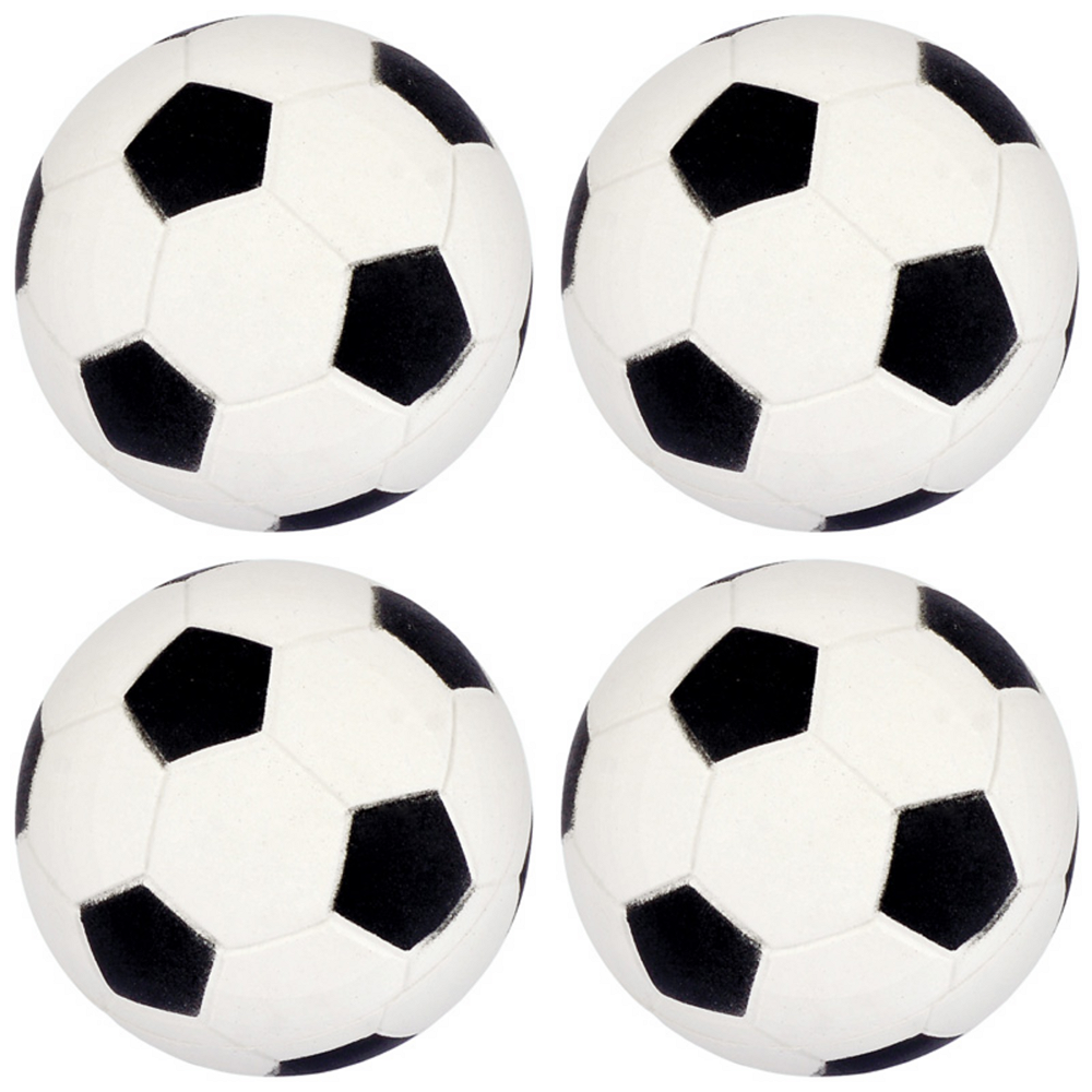 Nav Item for Soccer Rubber Bounce Balls 4ct Image #1