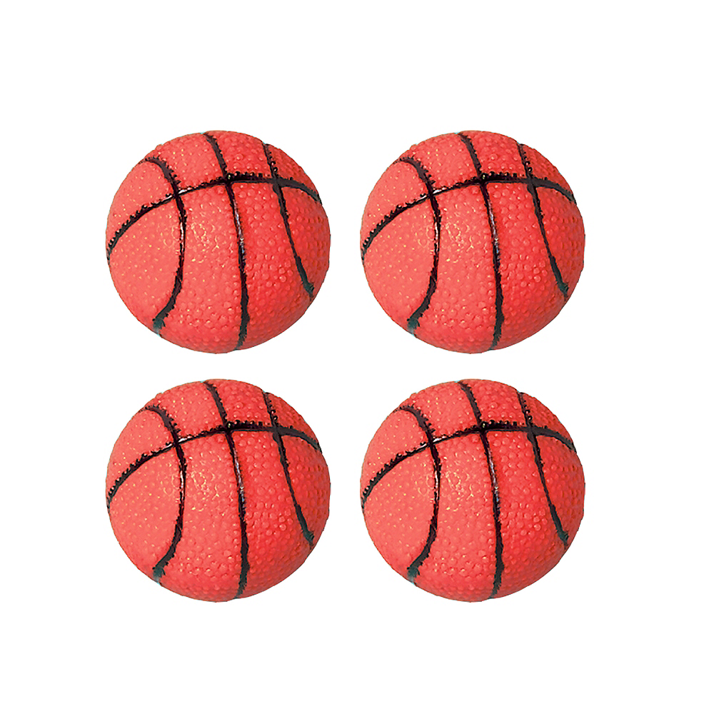 Mini Rubber Basketballs 4ct Image #1
