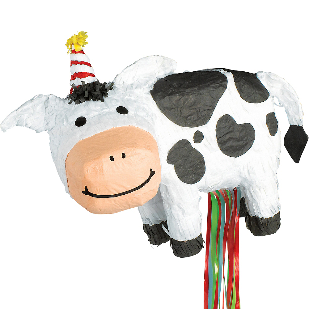 Pull String Birthday Cow Pinata Image #1