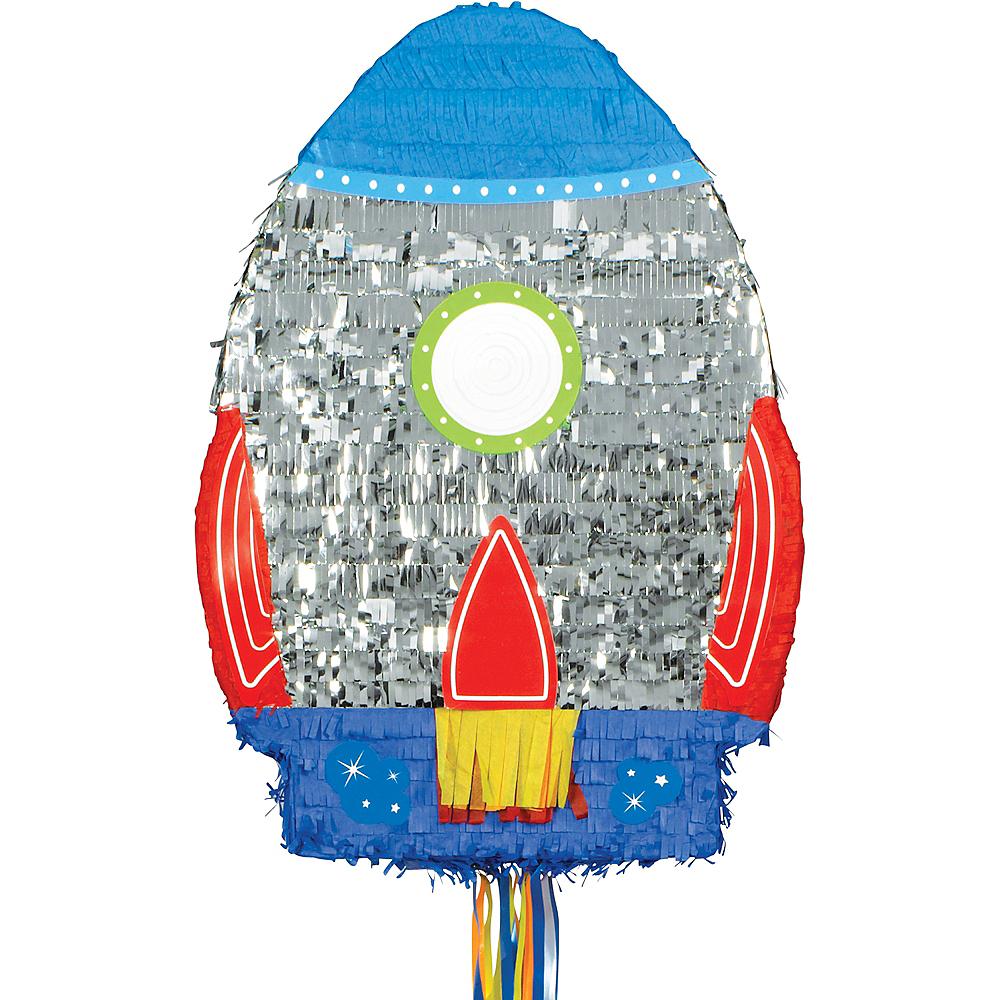 Pull String Blast Off Rocket Pinata Image #1