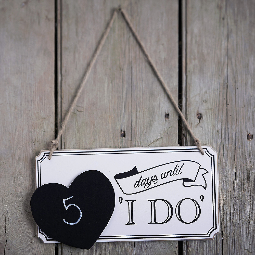 Nav Item for Ginger Ray Vintage Affair Wedding Countdown Chalkboard Sign Image #1