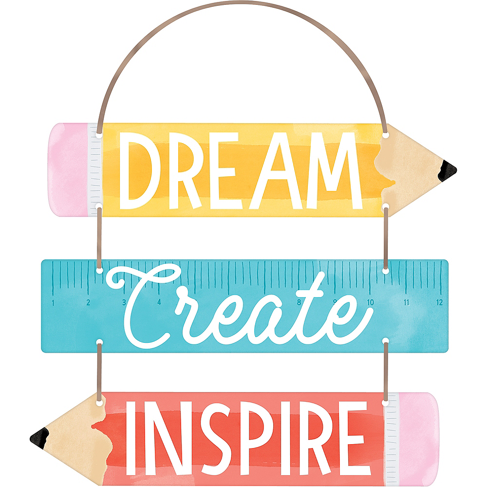 Dream Create Inspire Stacked Sign Image #1