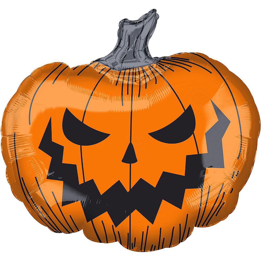 Scary Jack-o'-Lantern Balloon, 29in Image #1
