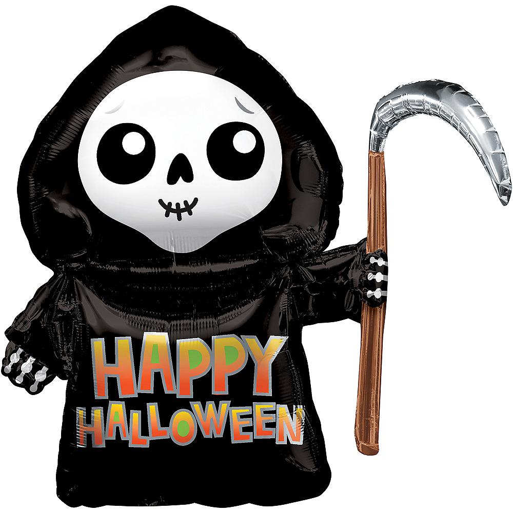 Grim Reaper Happy Halloween Balloon, 26in Image #1