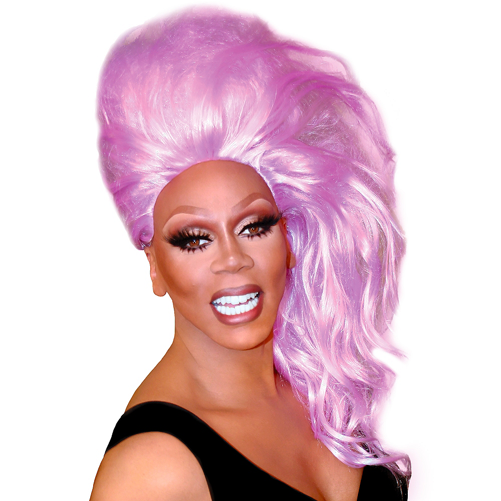 Nav Item for RuPaul Lavender Bouffantastic Wig Image #1
