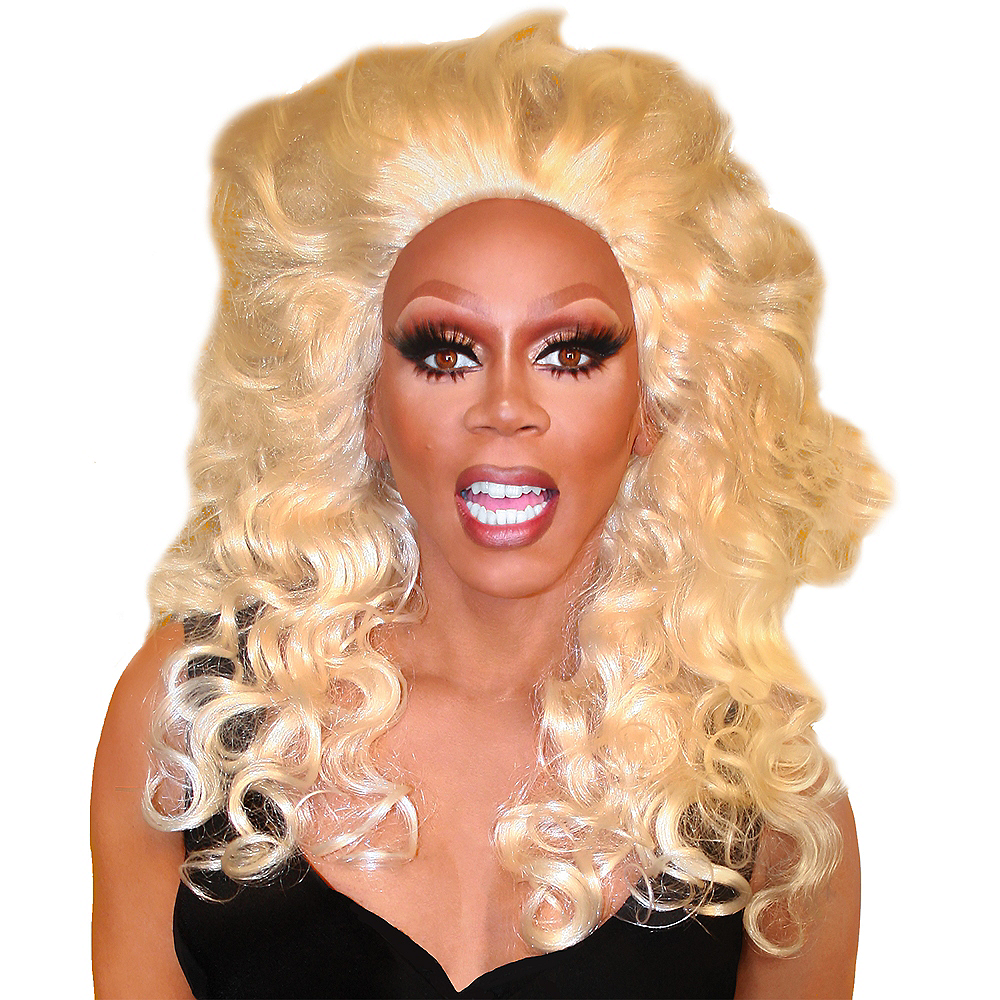 Rupaul Polished Platinum Wig 24in Party City Canada
