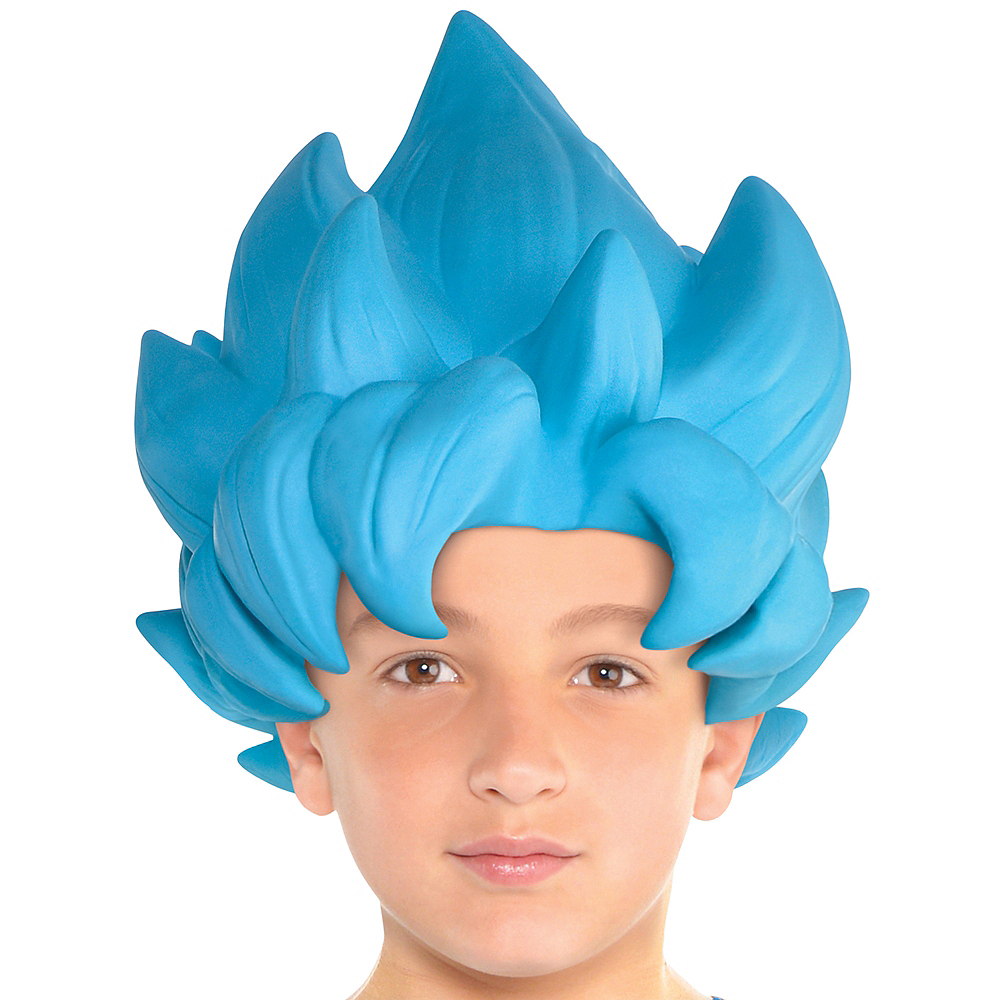 Child Blue Saiyan Wig 12inx 15in