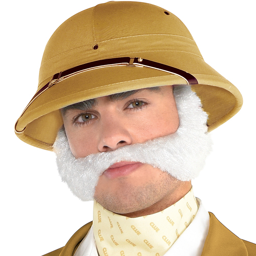 Adult Colonel Mustard Wig & Moustache - Clue Image #1