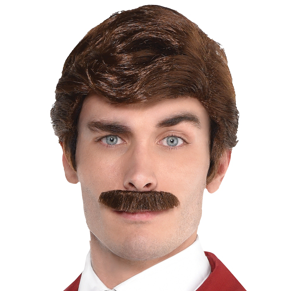 Ron Burgundy Wig & Moustache - Anchorman Image #1