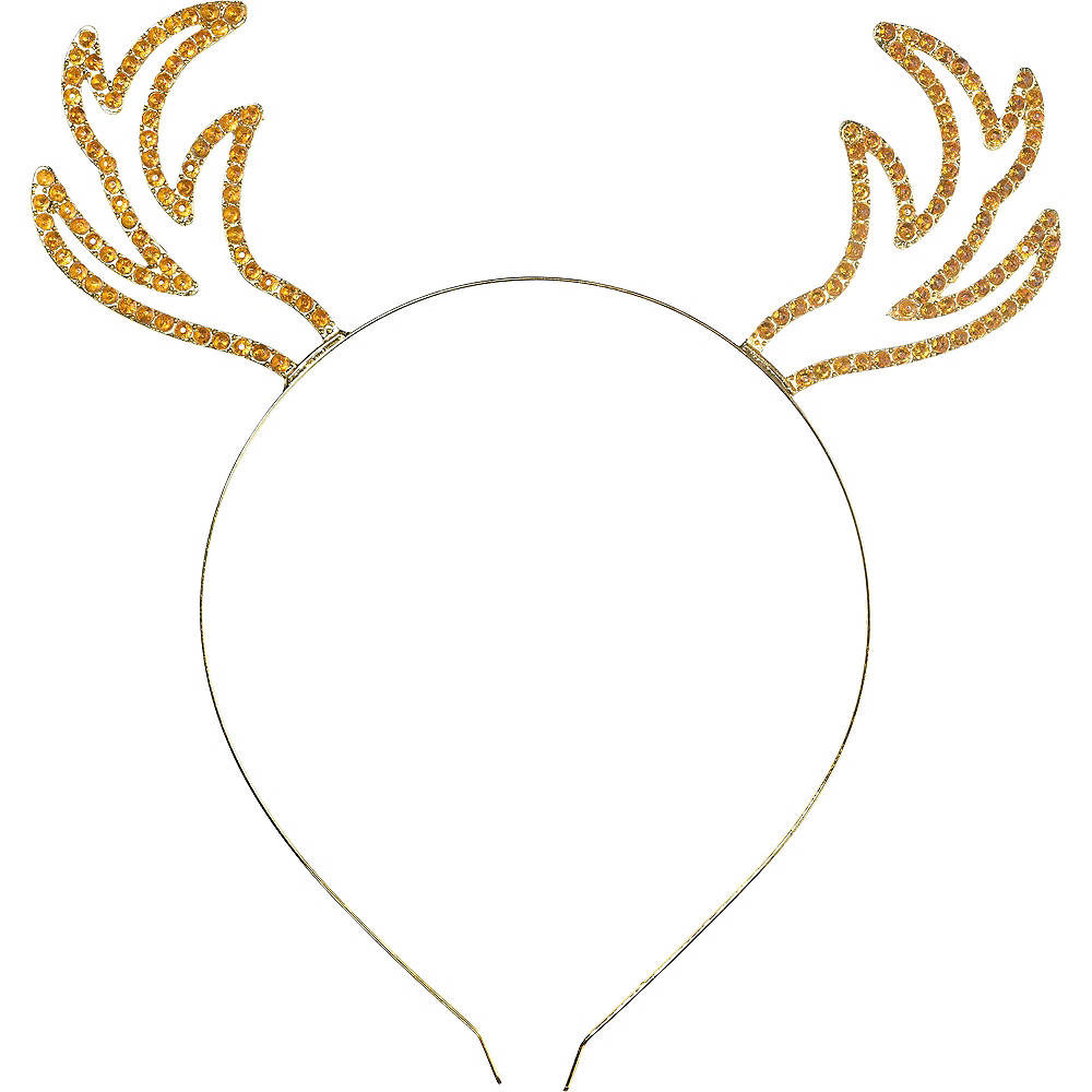 Gold Metal Deer Headband Image #1