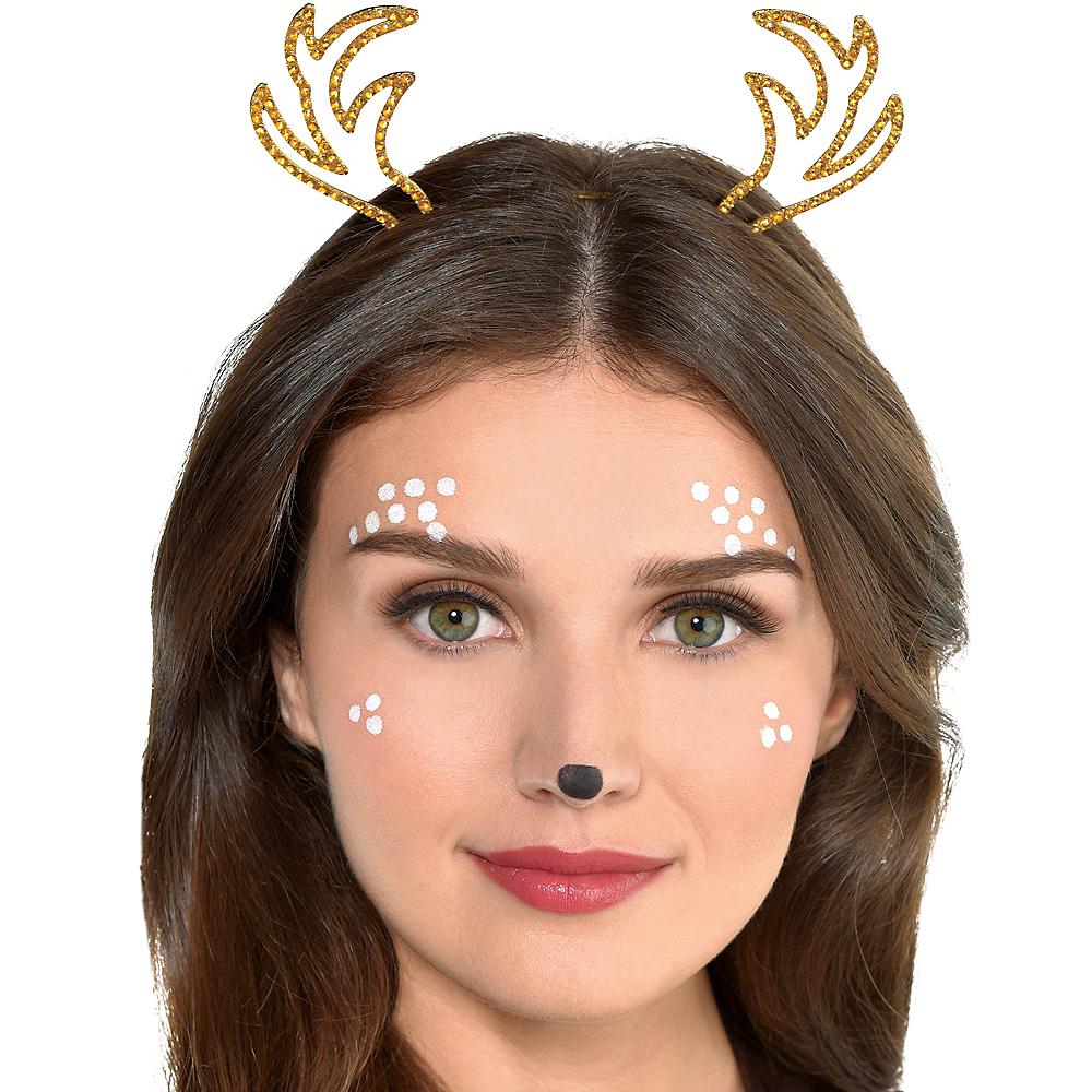 Gold Metal Deer Headband Image #2