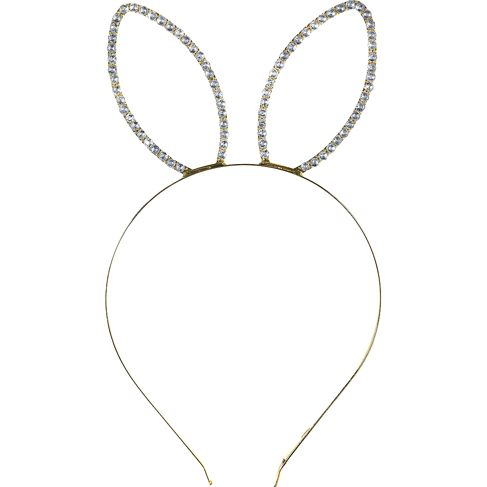 Gold Metal Bunny Headband Image #1