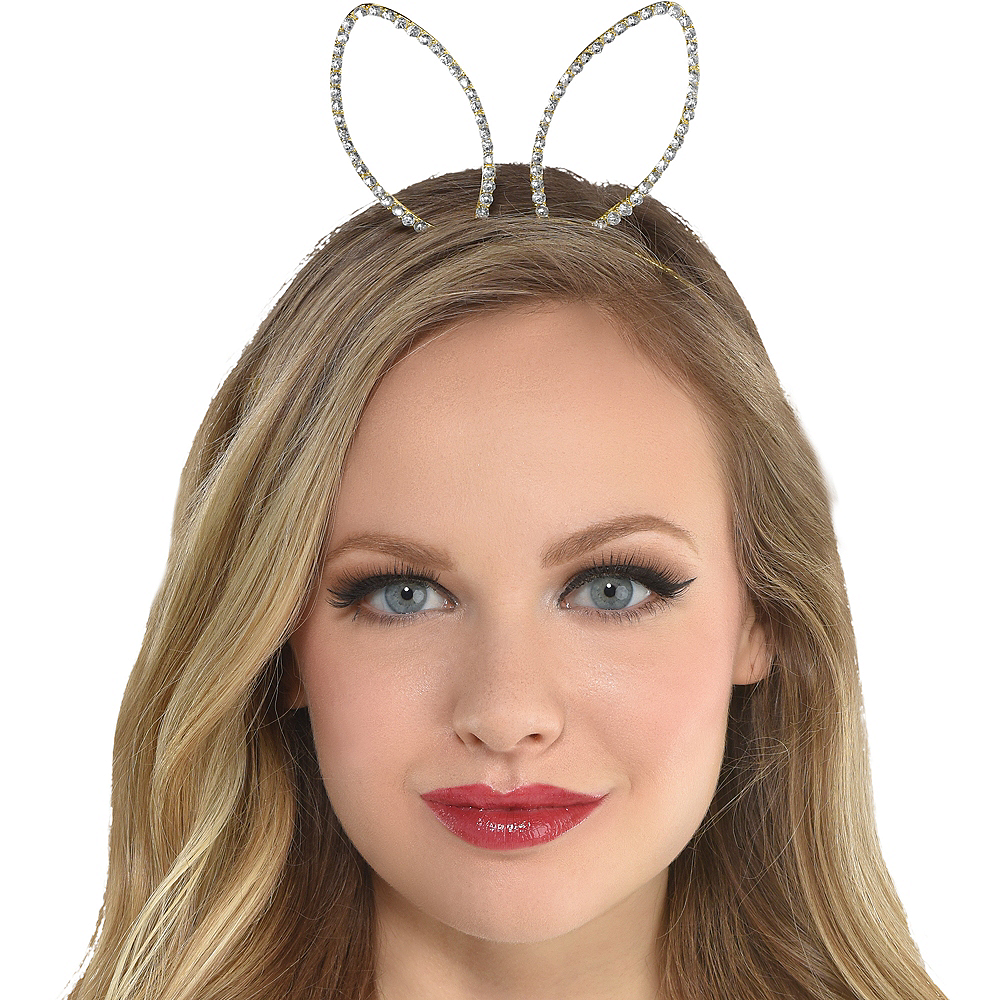Gold Metal Bunny Headband Image #2