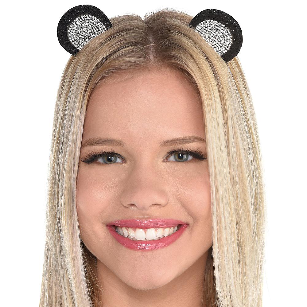Rhinestone Panda Ears Headband Image #2