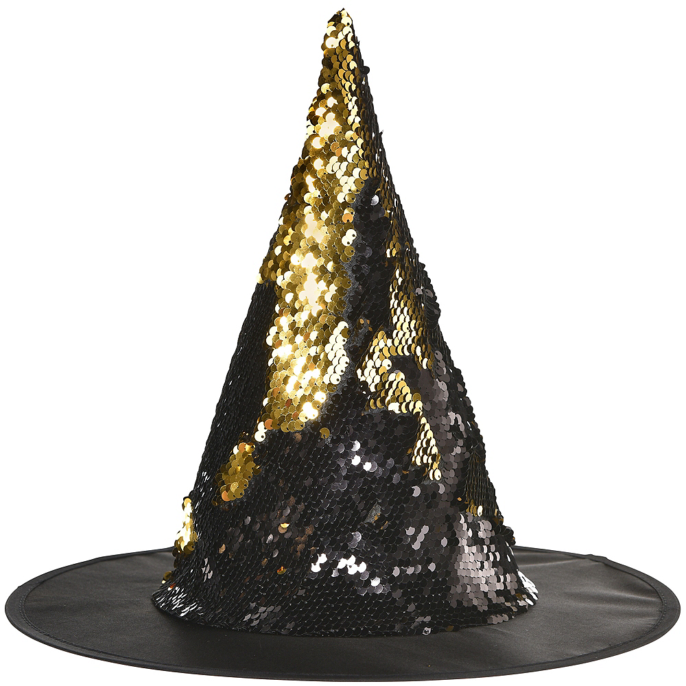 Child Magic Swipe Sequins Kids Witch Hat Image #1