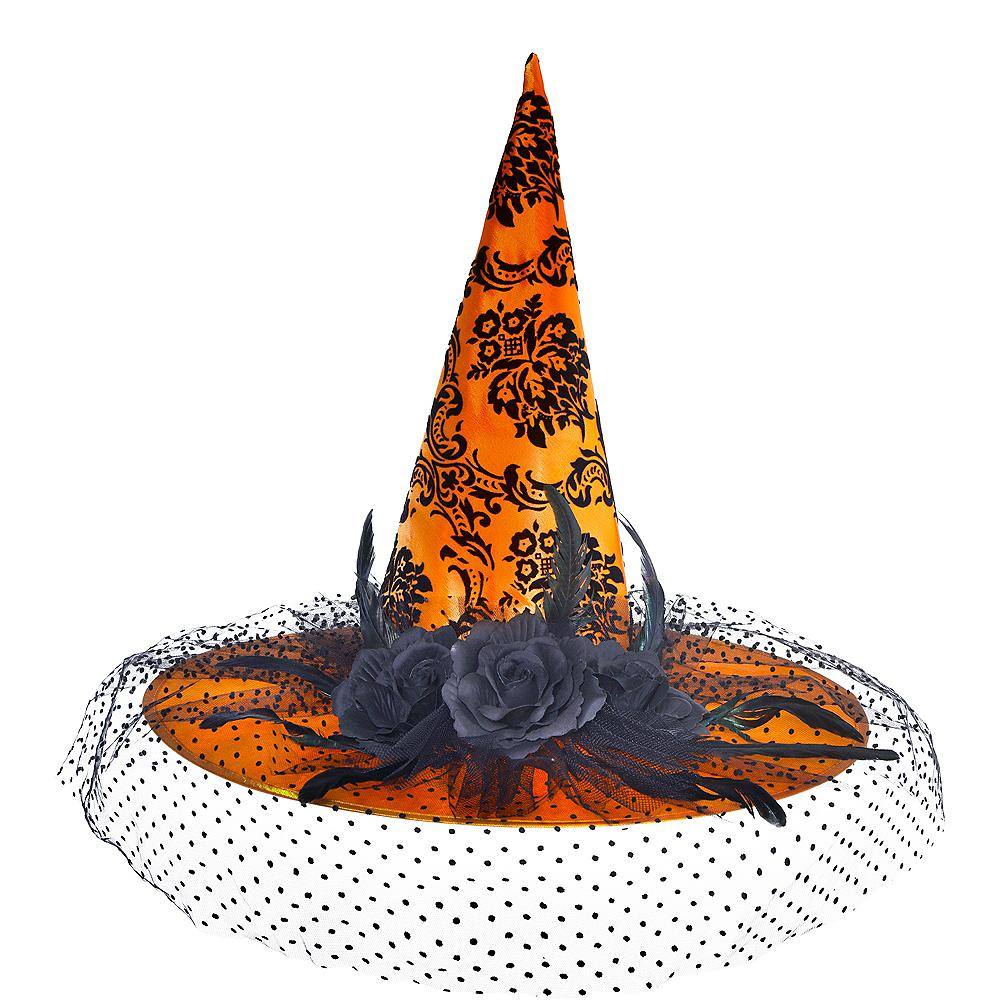 Fancy Orange Witch Hat Image #1