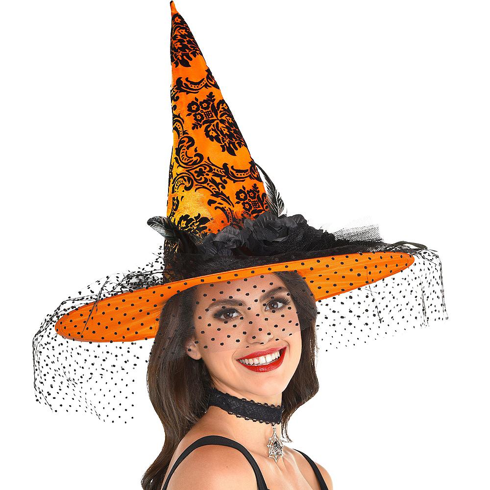 Fancy Orange Witch Hat Image #2