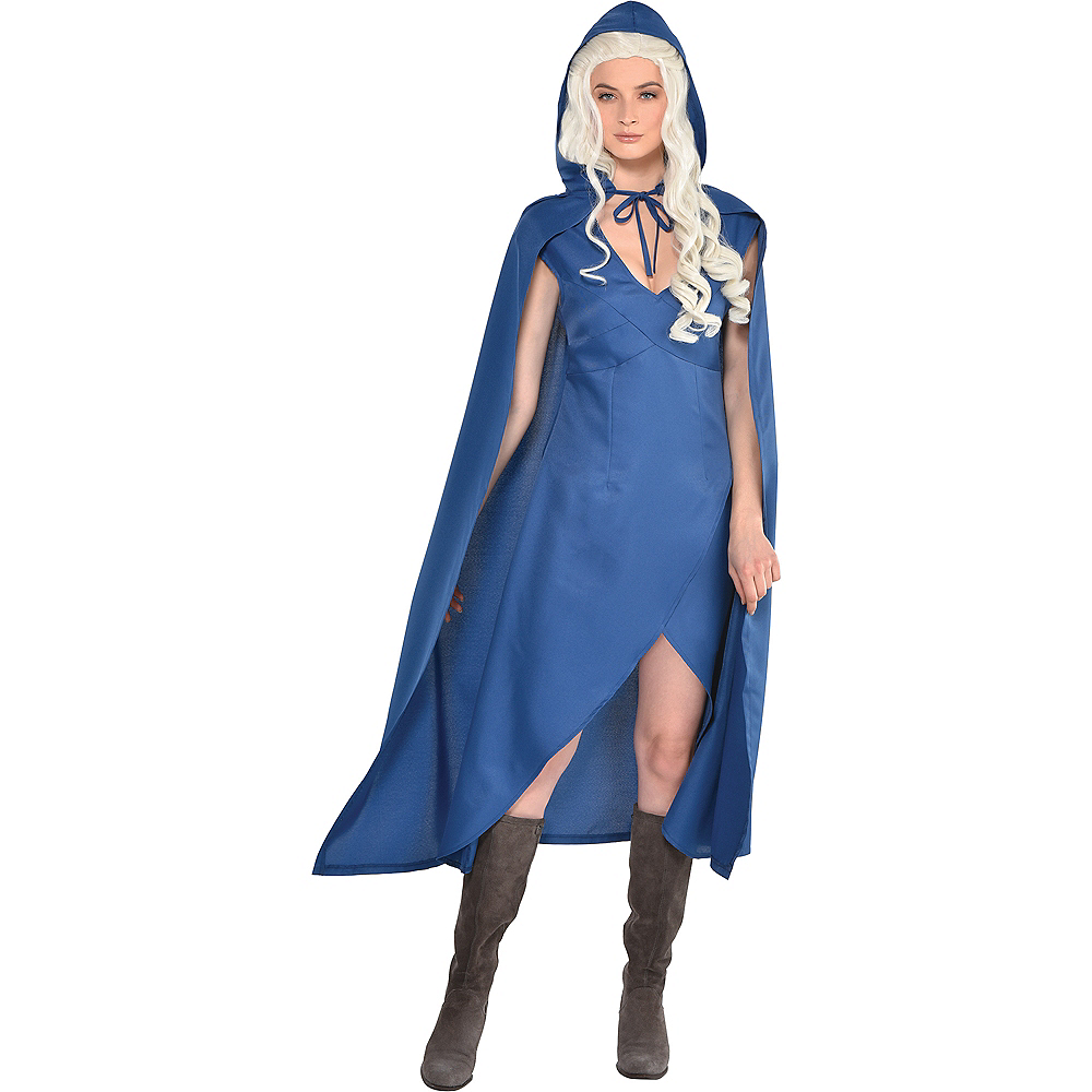 Slate Blue Hooded Cape Image #1